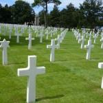 un nombre de tombe au cimetière des Américains en Normandie