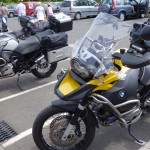 moto BMW en tour de Normandie