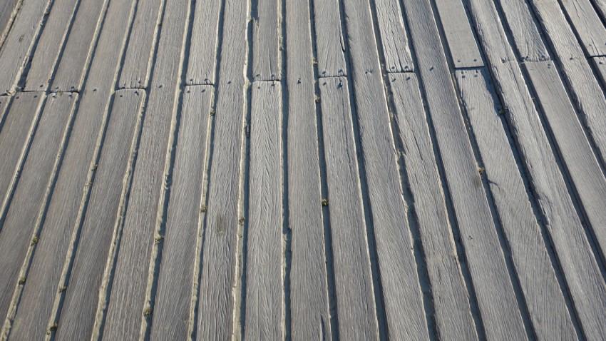 planche de Deauville en gros plan