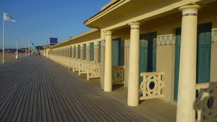 les planches de Deauville en Normandie