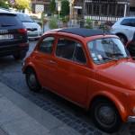 Fiat 500 à Deauville (Normandie)
