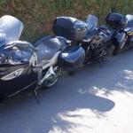 motos à l'ombre des motards Rennais