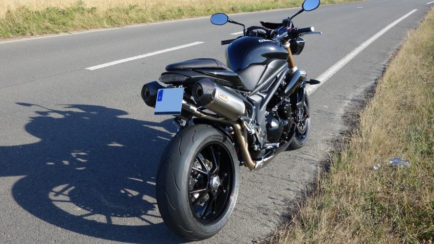 Moto Triumph à Rennes