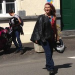 Motarde Rennaise en moto BMW