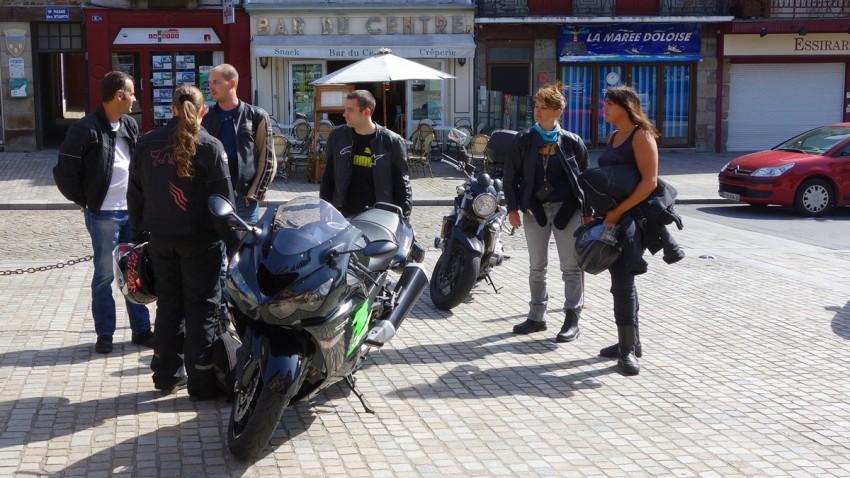 motard rennais à Dol de Bretagne (dep. 35)