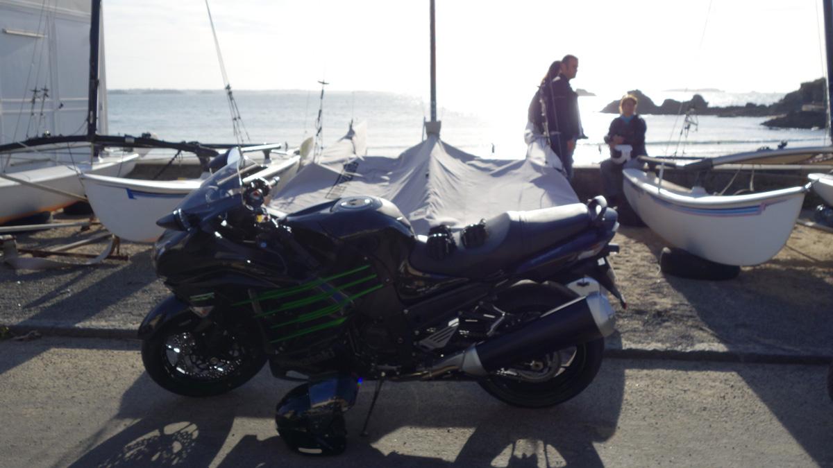 ZZR à Saint-Malo, en bord de mer