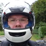 David Jazt et son casque moto Arai Chaser