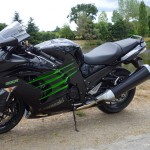 Kawasaki ZZR 1400 noire et verte