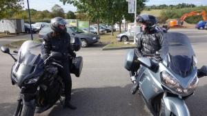 Motards Rennais sur moto routière