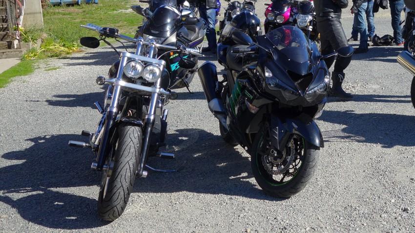 Harley face à Kawasaki