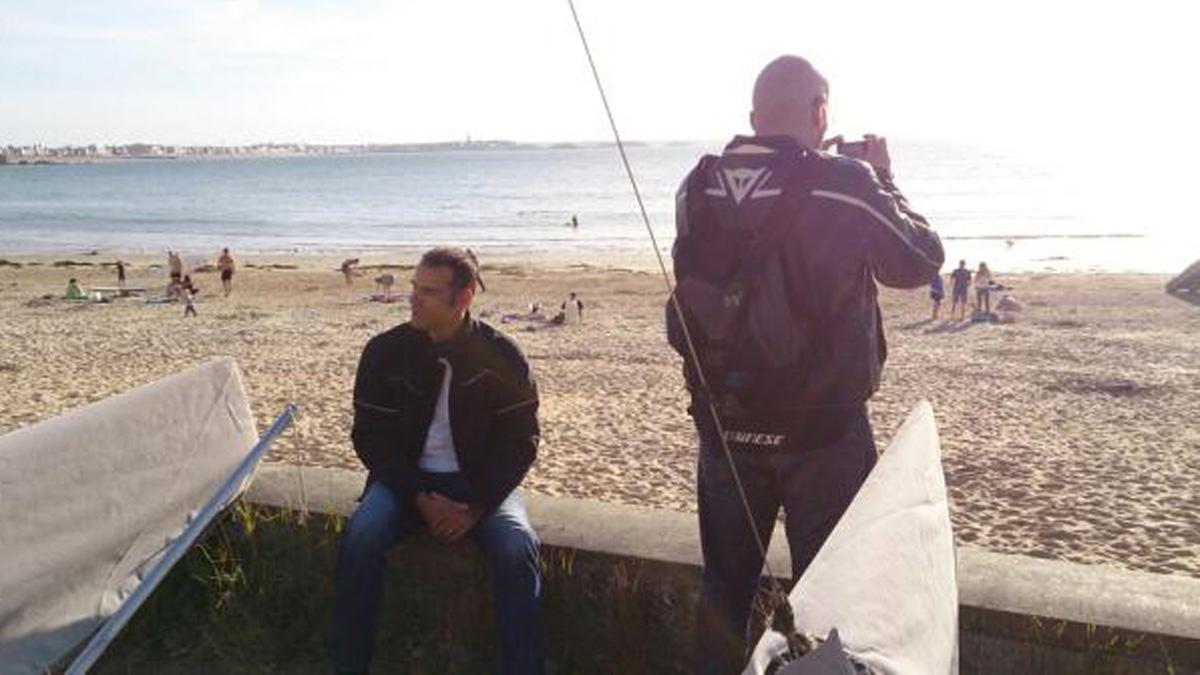 Jean-Claude et David Jazt à la plage du Pont de Saint-Malo