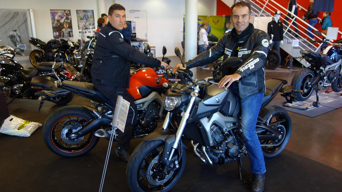 Essai moto Yamaha MT 09 à Rennes (Planète Yam)