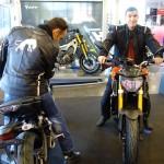 Arnaud et Jean-Claude sur le MT 09