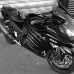 moto ZZR de David Jazt (motoshop 35, Rennes)