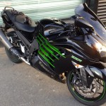 Kawasaki ZZR 2013 black and Green Monster