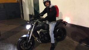 Jean-Marie Burgada, motard Rennais en Yamaha MT 09