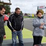 2 motards et une motarde à Rennes