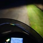 vue de nuit à bord du ZZR 1400