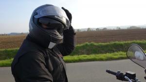 mathieu, le motard Rennais en Bandit 650 S bordeaux voire rouge