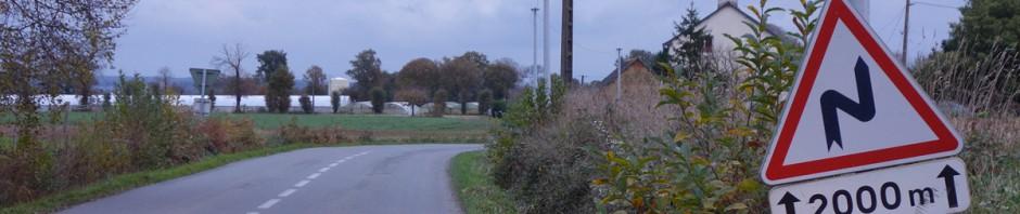 petite routes autour de Rennes à moto