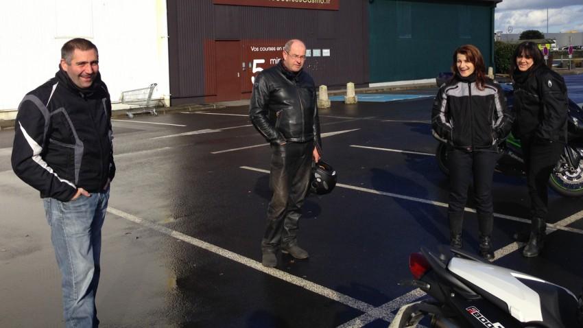 motard et motarde : balade moto à Rennes