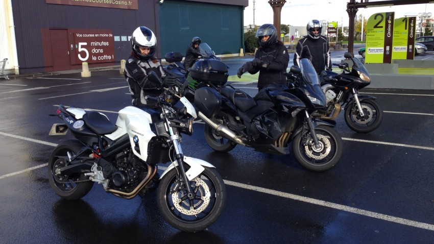 motard à Rennes, balade moto en hiver
