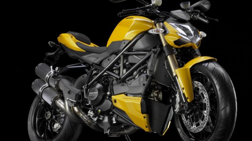 ducati 848 Streetfighter jaune