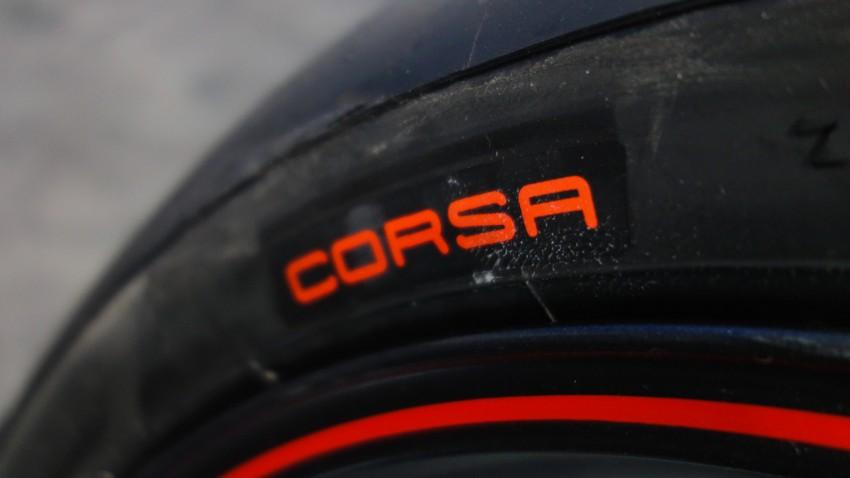 Pirelli Diablo Rosso Corsa sur le Street Triple 2014