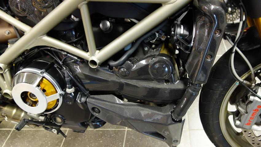 sabot moteur, écope de réservoir, protection radiateur... Ducati Performance 1098 Streetfighter