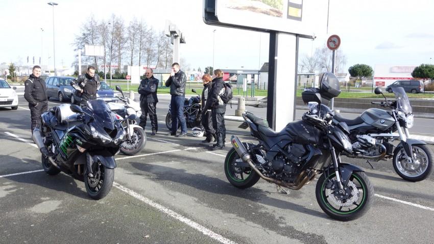 balade moto du 2 février au départ de Rennes