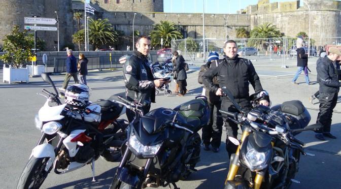 Motard Rennais à Saint-Malo à la Saint Twin