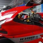 Tête de fourche du 1098 S Ducati à la Roche sur Yon