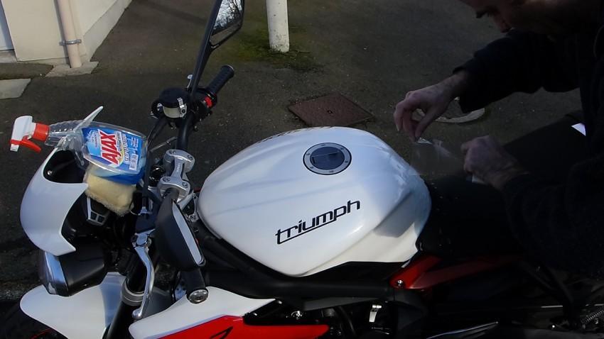 protection de réservoir moto : clear protect