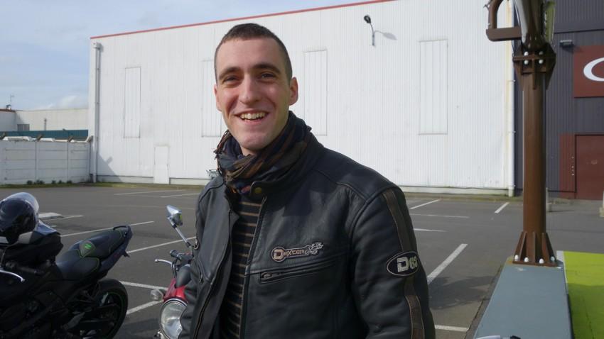 Alban, motard Rennais