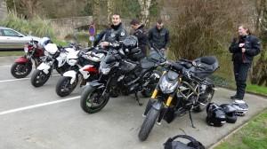 motard Rennais à Dinan : bécane et moto de motard