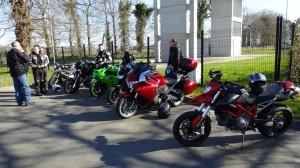sortie moto : rendez-vous à Cora à Pacé
