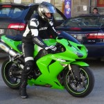 Tony sur son ZX10R