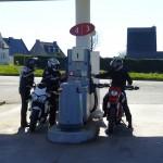 plein d'essence à moto