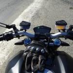 Ducati Streetfighter 1098 S noir, au guidon