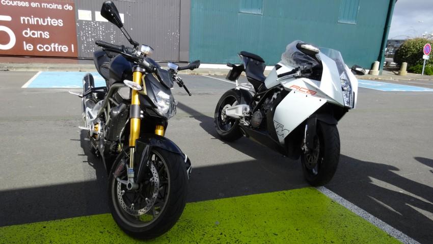 KTM RC8 blanche et noire