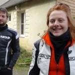 Florent et Audrey, motard Rennais