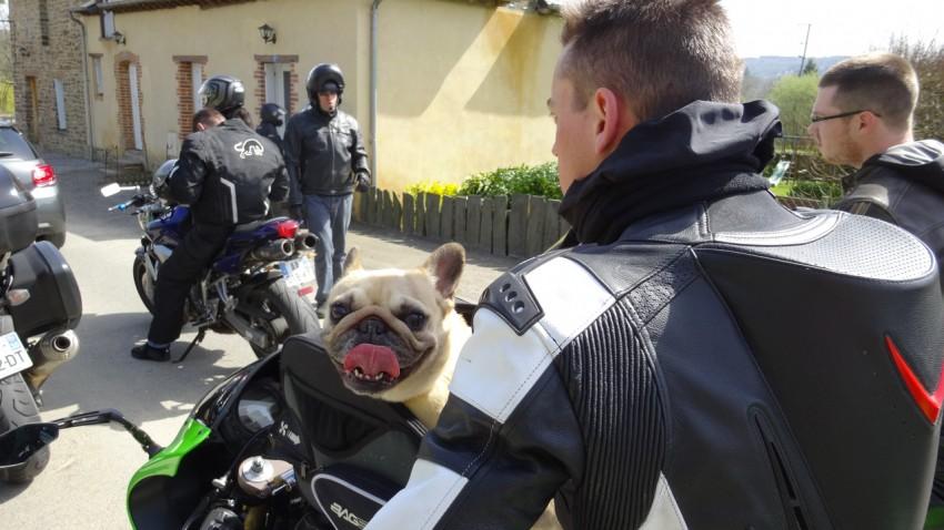 il commence à faire chaud à moto au soleil en mars 2014