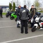 Motard et sa moto