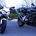 moto de Jean-Claude et de David : motards Rennais