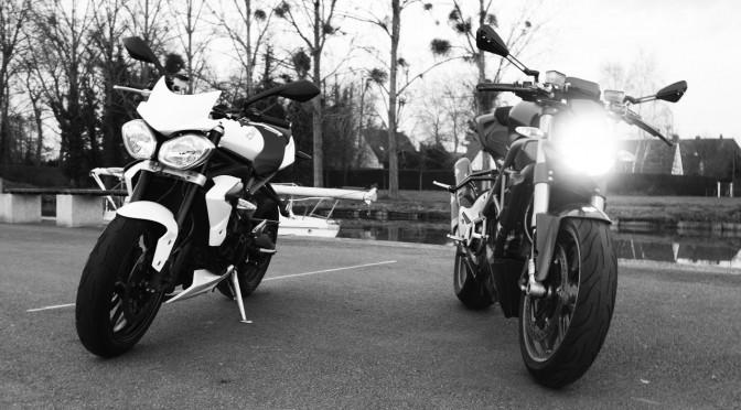 moto roasdter sportif