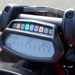 tableau de bord du ducati diavel full led