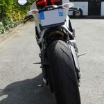vue arrière du Ducati Panigale 899