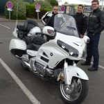 Honda Goldwing 1800 à Rennes blanche