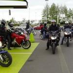 Groupe d'Arnaud : moto en direction de Saint-Malo