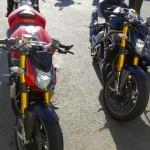 Les deux moto Ducati de David Jazt